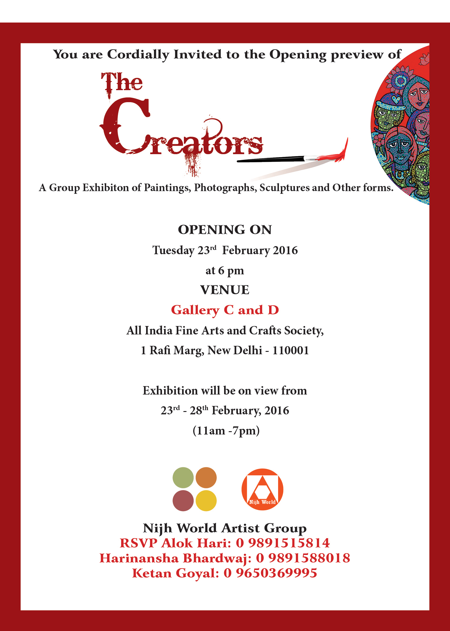 All india fine arts crafts society 16th all india water colour 14th all india traditional art 9th portrait exhibition stopboris Choice Image
